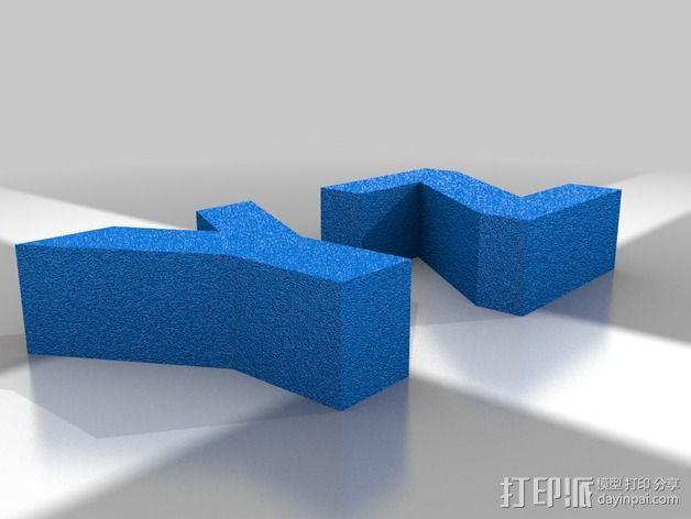 英文字母 字母块 3D模型  图3