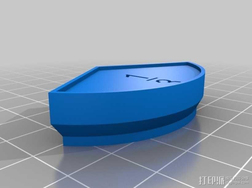扇形块 分数块 3D模型  图3