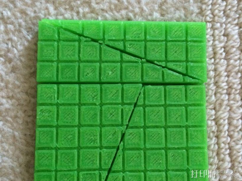 失踪的正方形 裁剪悖论 3D模型  图1