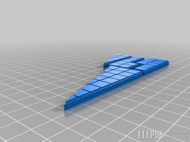 失踪的正方形 裁剪悖论 3D模型  图2