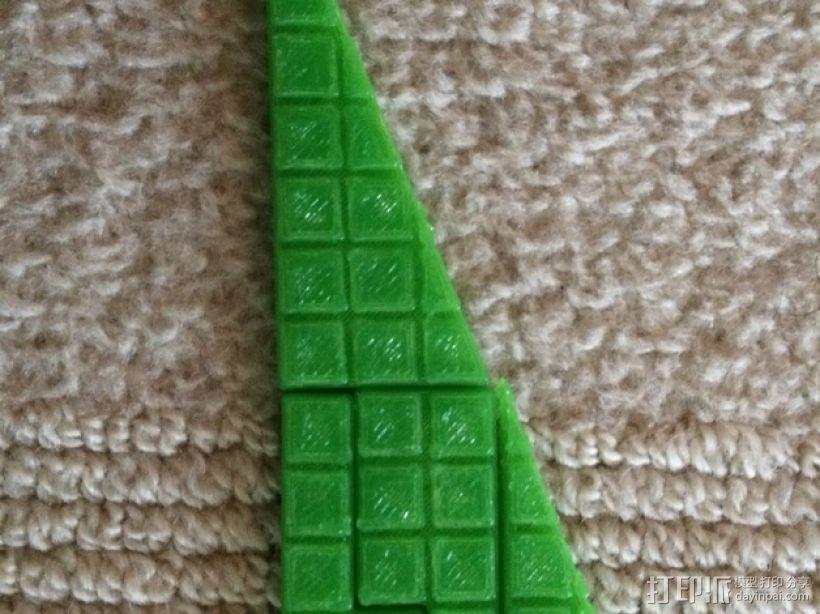 失踪的正方形 裁剪悖论 3D模型  图5