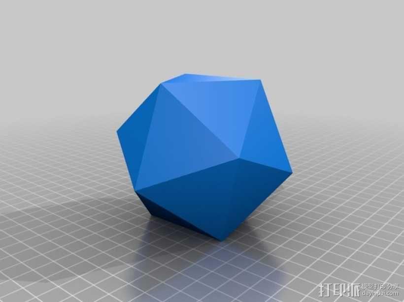 二十面体 几何体  3D模型  图1