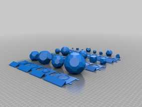 柏拉图立体 阿基米德多面体 3D模型
