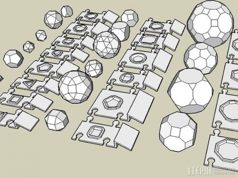 柏拉图立体 阿基米德多面体 3D模型  图2