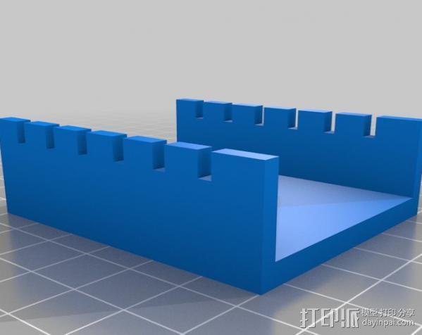 电泳槽 3D模型  图1