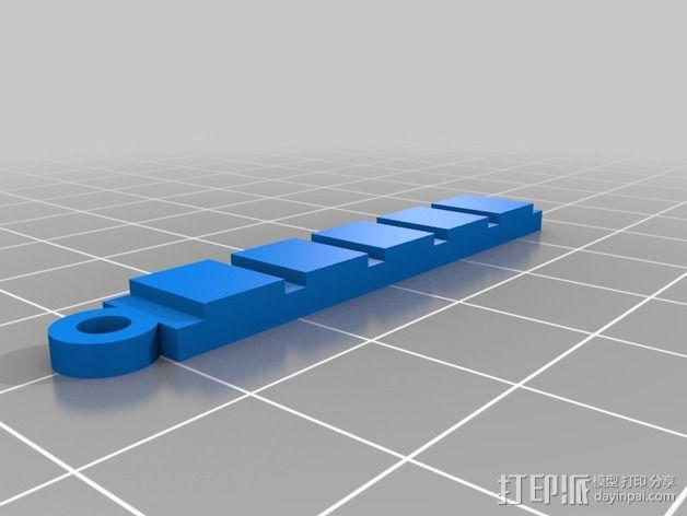 PH试纸耳坠 3D模型  图2