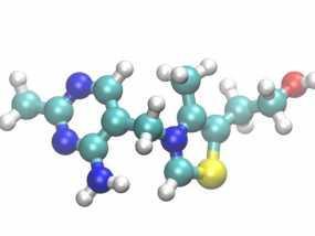 硫胺素分子模型 3D模型