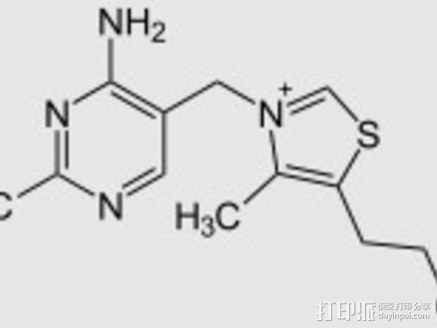 硫胺素分子模型 3D模型  图4