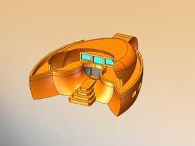 火星基地 太空舱模型 3D模型