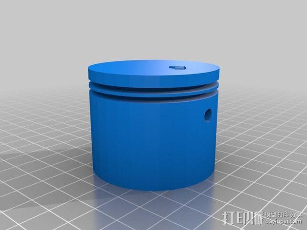 2冲程活塞 3D模型  图2