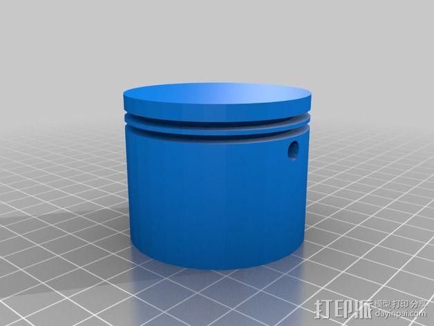 2冲程活塞 3D模型  图1