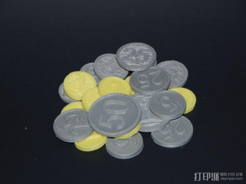 硬币模型 3D模型  图1