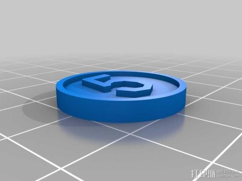 硬币模型 3D模型  图2