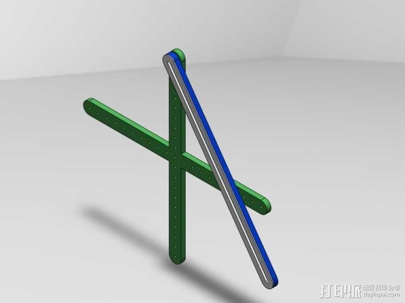 三角绘图尺 3D模型  图1