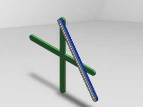 三角绘图尺 3D模型