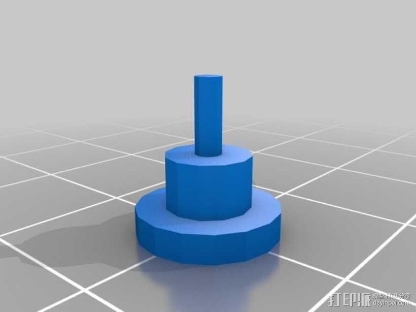 三角绘图尺 3D模型  图3