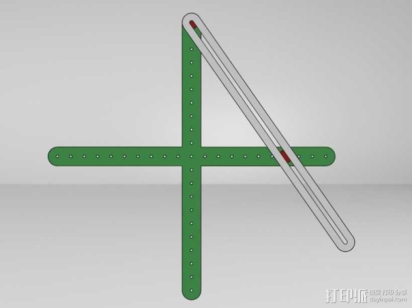 三角绘图尺 3D模型  图6