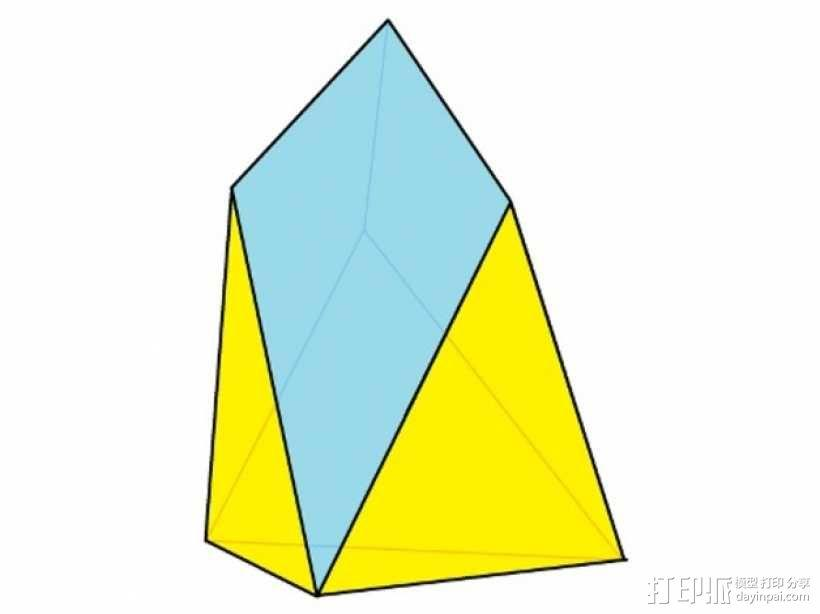 七面体 3D模型  图1