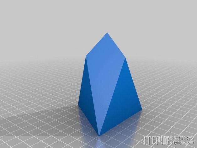 七面体 3D模型  图2