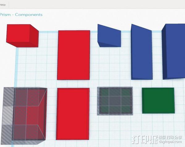 长方体 几何体 直角棱柱 3D模型  图2