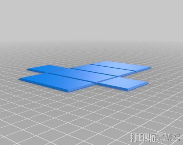 长方体 几何体 直角棱柱 3D模型  图4