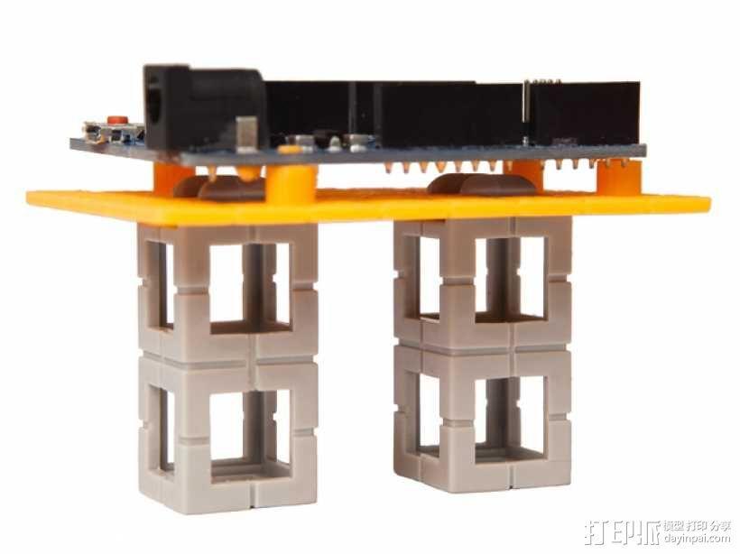 Rokenbok Arduino 电路板底座 3D模型  图3
