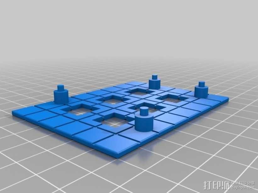 Rokenbok Arduino 电路板底座 3D模型  图4