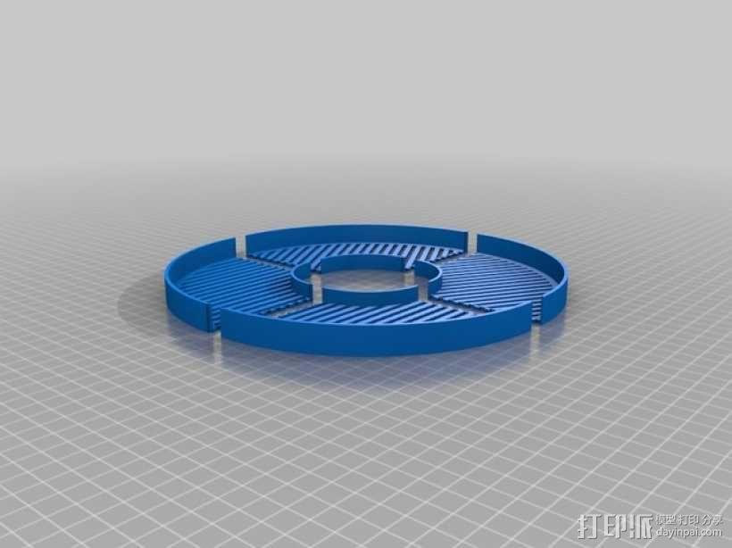鱼骨对焦板 Bahtinov面罩 3D模型  图1