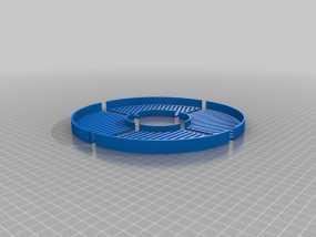 鱼骨对焦板 Bahtinov面罩 3D模型