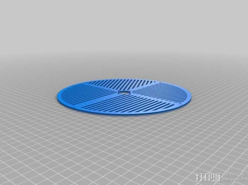 鱼骨对焦板 Bahtinov面罩 3D模型  图3