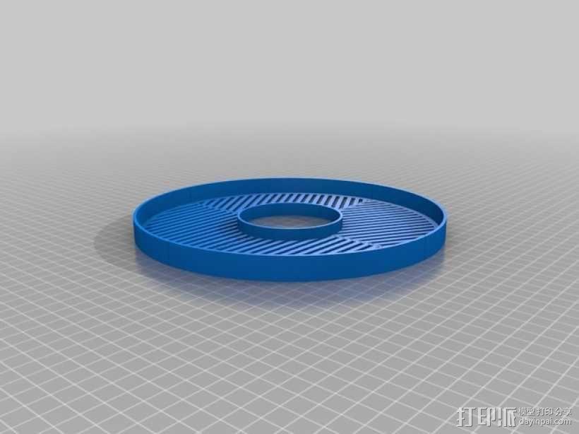 鱼骨对焦板 Bahtinov面罩 3D模型  图2