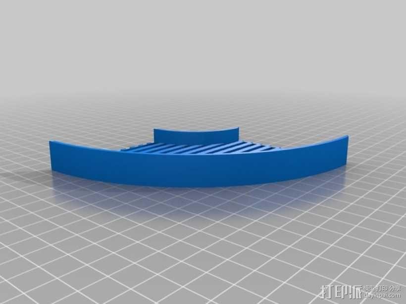 鱼骨对焦板 Bahtinov面罩 3D模型  图4