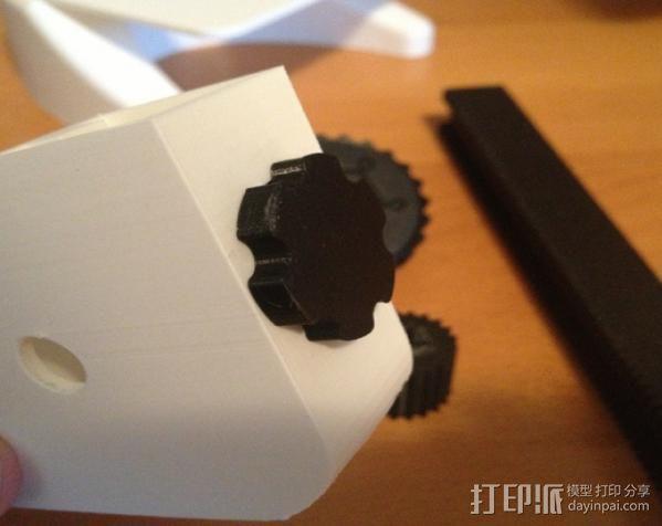 显微镜对焦锁 3D模型  图3