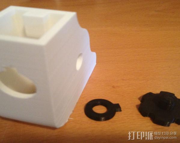 显微镜对焦锁 3D模型  图2