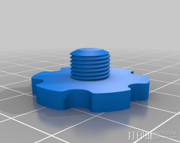 显微镜对焦锁 3D模型  图6