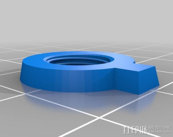 显微镜对焦锁 3D模型  图7