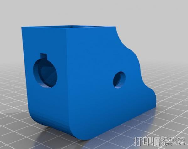 显微镜对焦锁 3D模型  图5