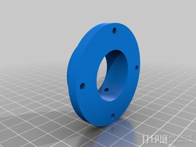 蜗形凹轮分度箱 3D模型  图2