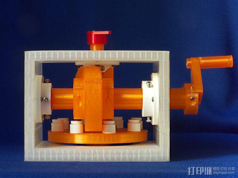 蜗形凹轮分度箱 3D模型  图1
