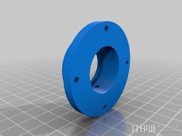 蜗形凹轮分度箱 3D模型  图6
