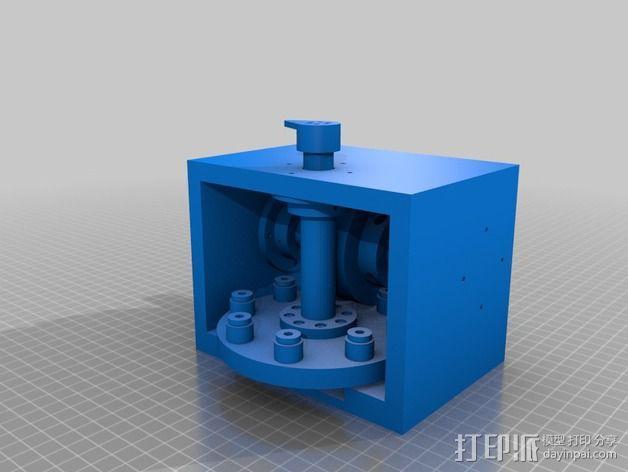 蜗形凹轮分度箱 3D模型  图24