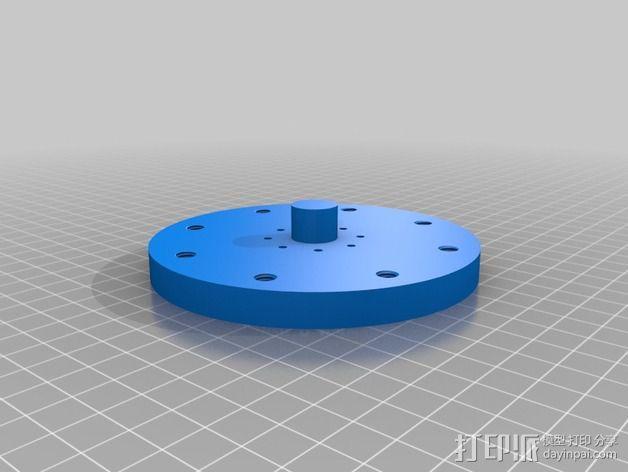 蜗形凹轮分度箱 3D模型  图25