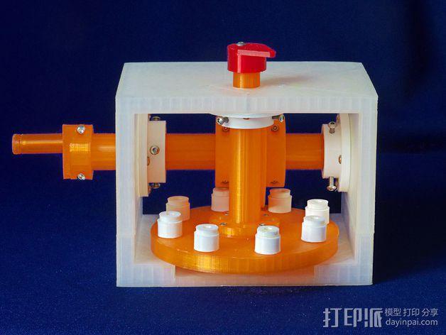 蜗形凹轮分度箱 3D模型  图26