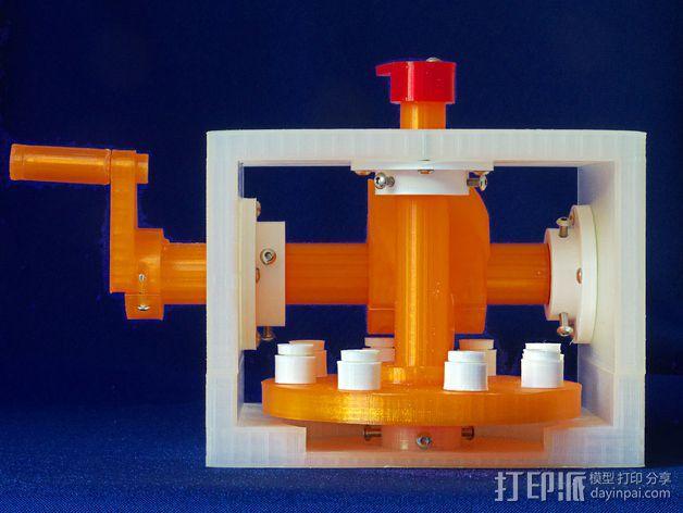 蜗形凹轮分度箱 3D模型  图27