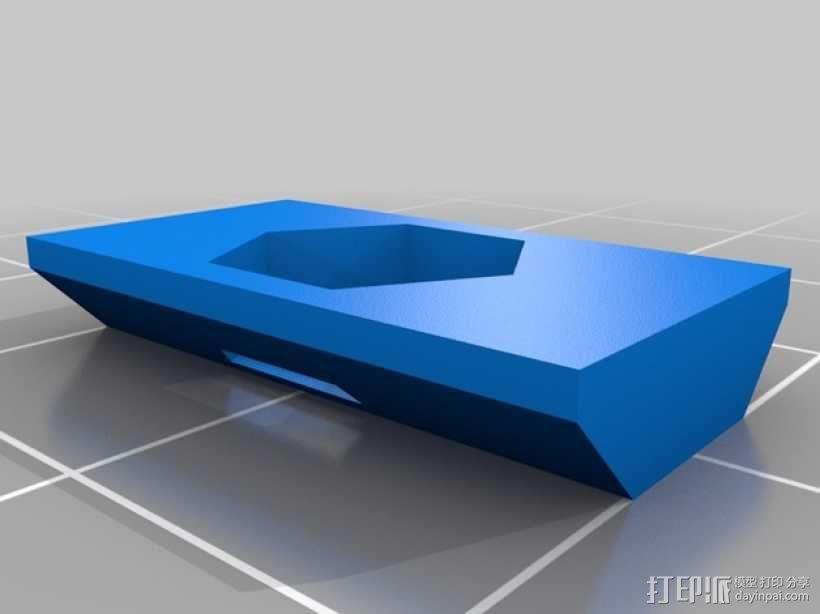 M5保险螺帽 3D模型  图1
