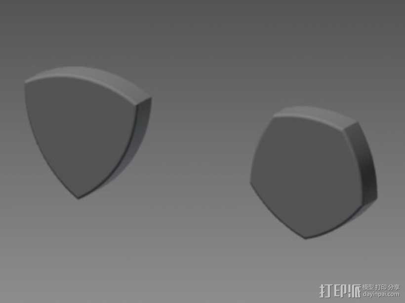 鲁洛多边形模型 3D模型  图2