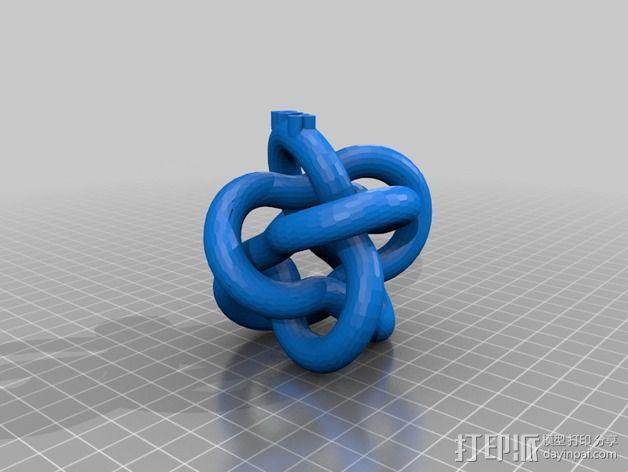 圆环结 3D模型  图2