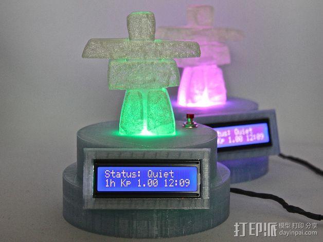 极光监控仪 3D模型  图1