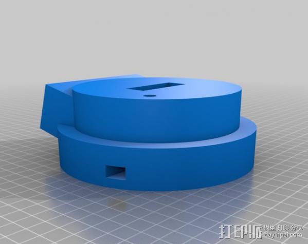 极光监控仪 3D模型  图3