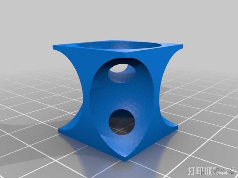 体心立方晶格模型 3D模型  图1